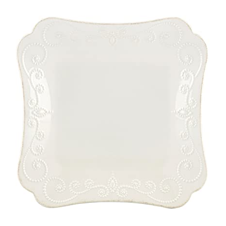 Lenox French Perle Square Dinner Plate White  sc 1 st  Amazon.com & Amazon.com | Lenox French Perle Square Dinner Plate White: Dinner ...