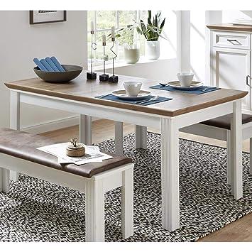 Lomadox - Mesa de Comedor Extensible a 220 cm, Color Grafito y ...