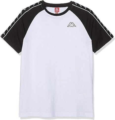 Kappa Coen Slim 222 Banda - Camiseta, Hombre, White/Black, M ...