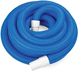 SplashTech 1.5-inch Spiral Wound Swimming Pool Vacuum Hose with Swivel Cuff (16.5')
