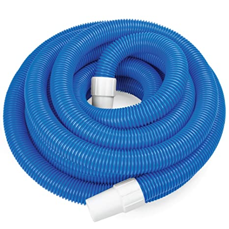 SplashTech 1.5-inch Spiral Wound Swimming Pool Vacuum Hose with Swivel Cuff  (16.5\')