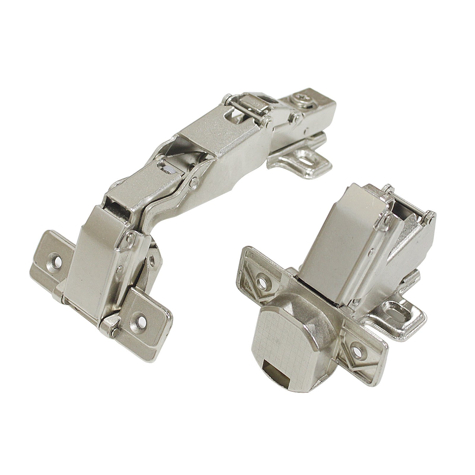 Full Overlay Frameless Cabinet Door Hinges, 165 Degree Soft Closing Nickel Plating Durable European Style Concealed Hinges 10 Pair by Knobonly (Image #7)