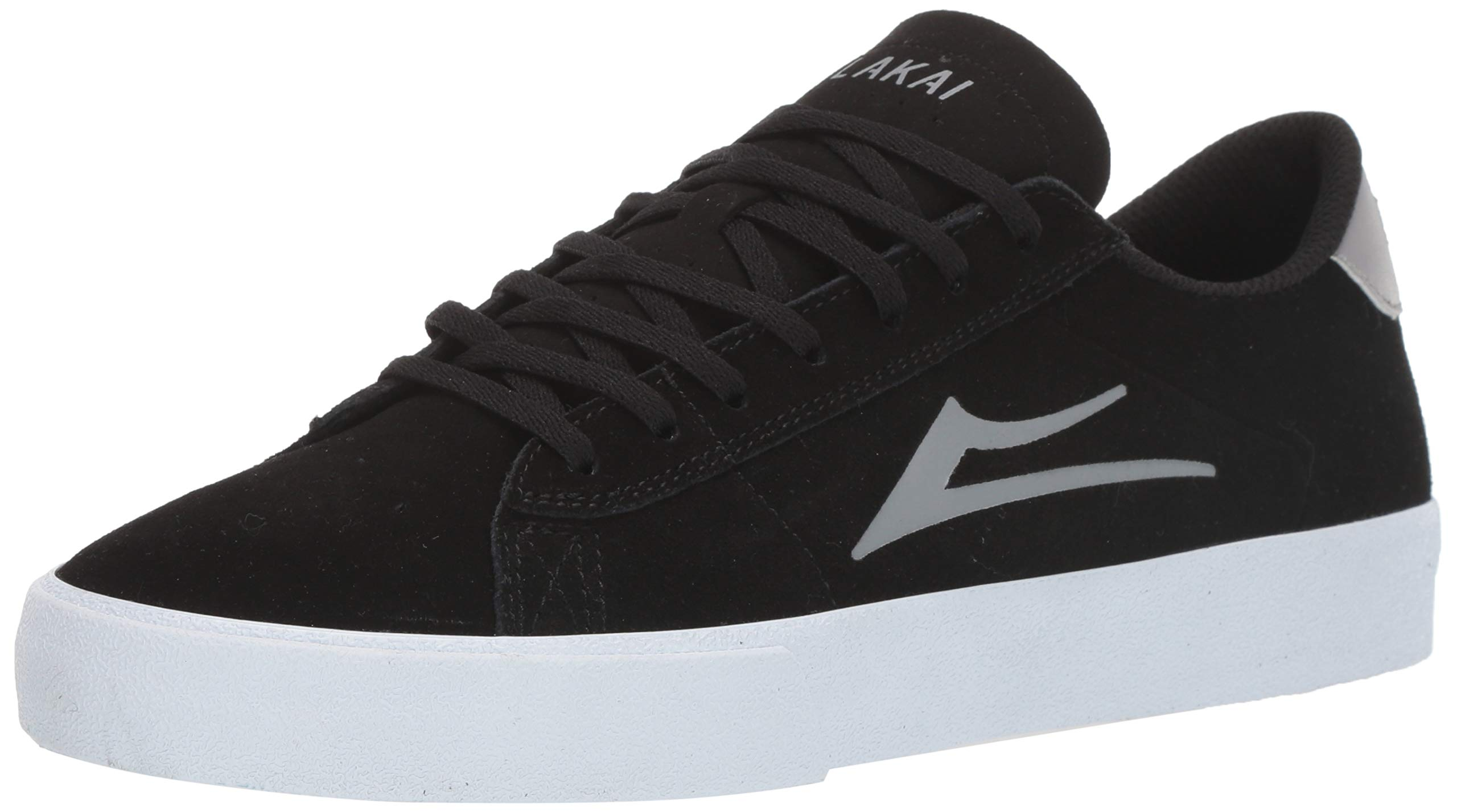 Lakai Limited Footwear Mens Newport Skate Shoe, Black/Light Grey Suede, 9.5 M US by Lakai Limited Footwear Mens