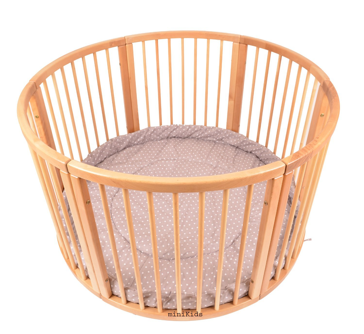 Brand NEW VERY LARGE Wooden PLAYPEN from ALANEL LAUFI GREY