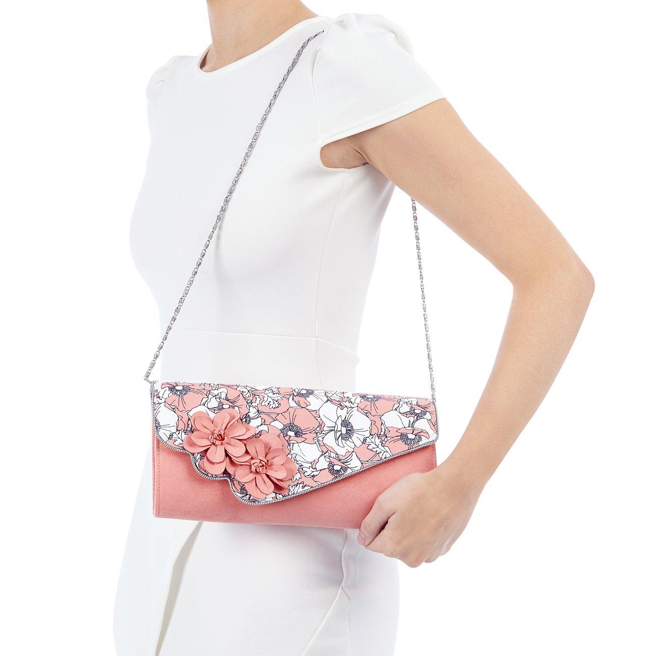 Ruby Shoo Women's Peach Floral Heidi Fabric Slingback Pumps & Rio Bag UK 5 EU 38 by Ruby Shoo (Image #7)
