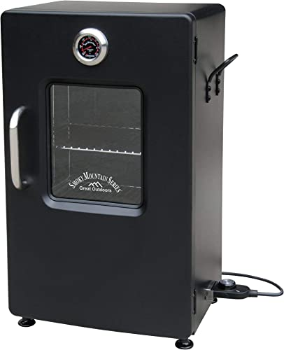 LANDMANN MCO 32954 Landmann Smoky Mountain 26 Electric Smoker-Black-OPP w Viewing W