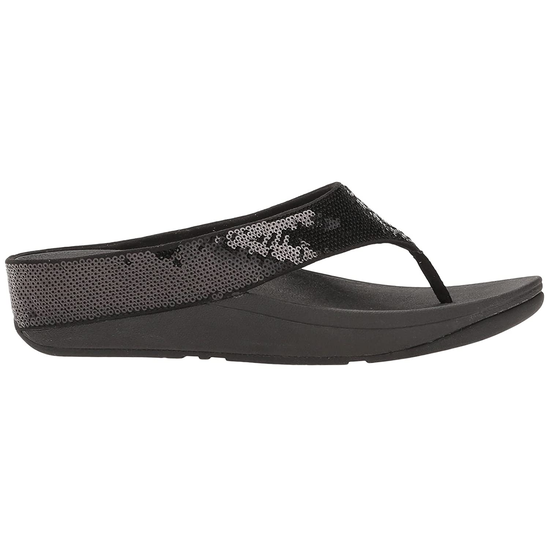 b60060c03df5 Fitflop Ringer Sequin Toe-Post Sandals Black  Amazon.co.uk  Shoes   Bags