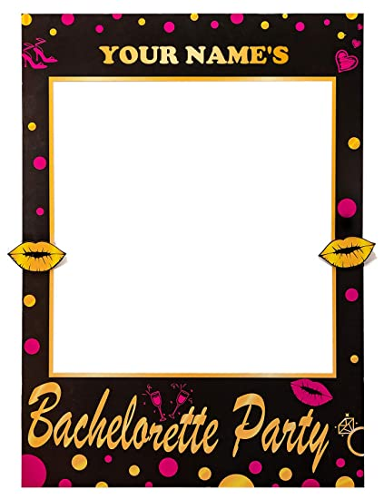 Amazon.com: 2-in-1 Bachelorette Photo Booth Props Frame Party ...