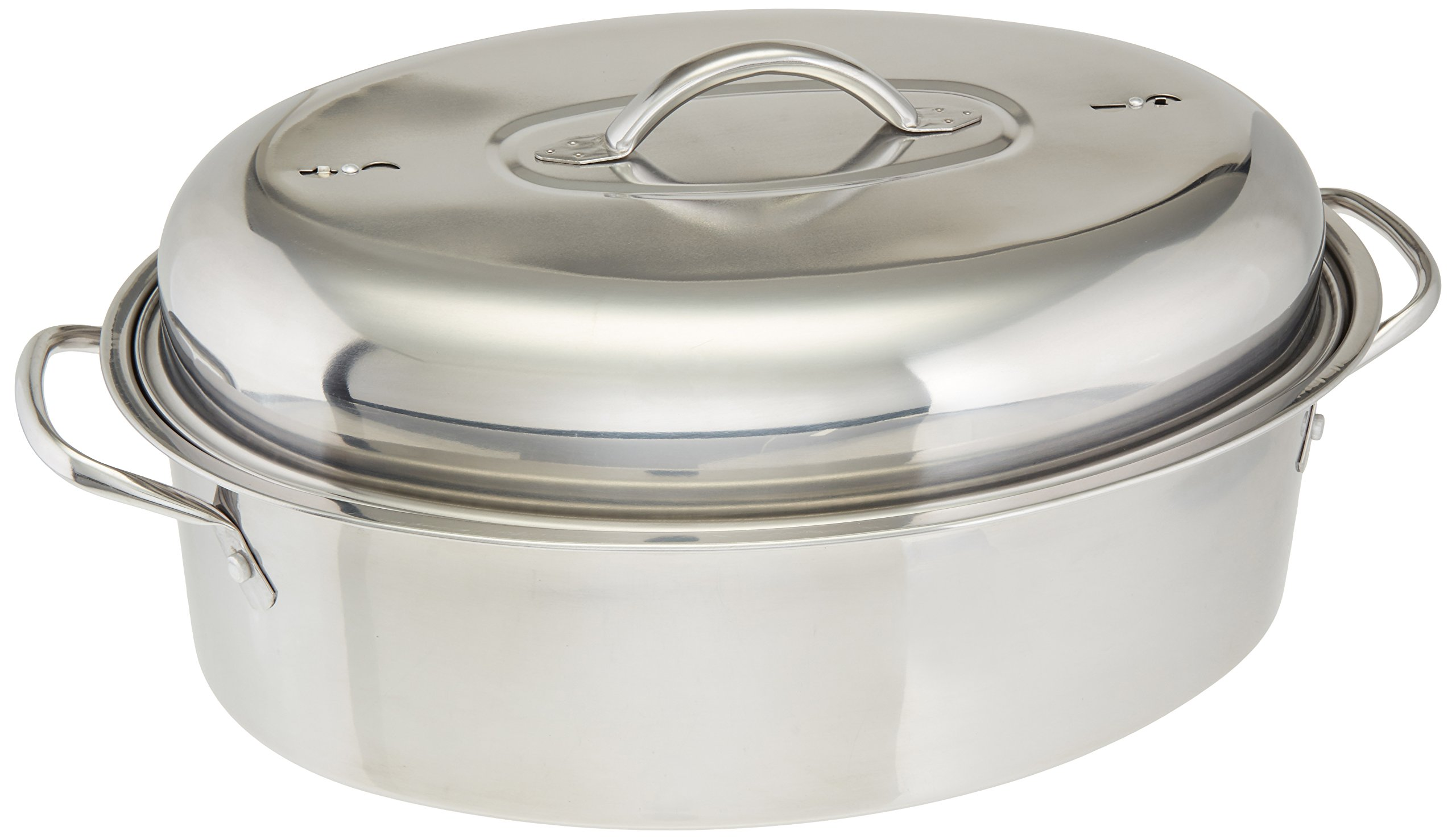 Cook Pro 574 All-in-1 Stainless High Dome Roaster and Fish Poacher, 23-Pound by Cook Pro