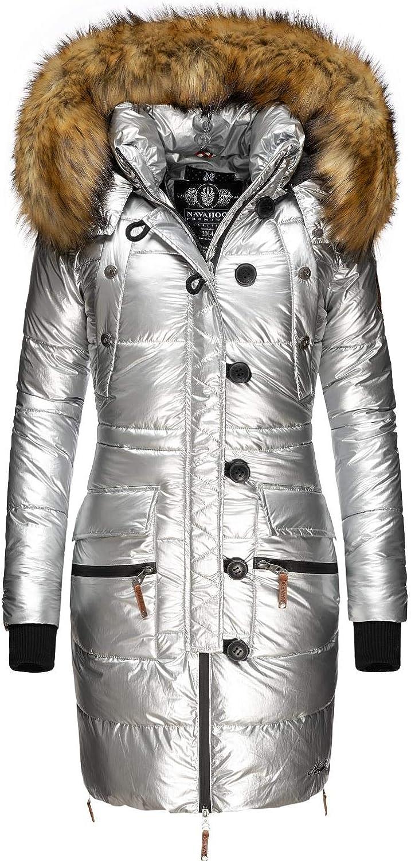 Navahoo Khingaas Veste dhiver pour Dame avec Une Capuche en Fausse Fourrure XS-XL
