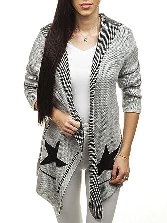 BOLF Damen Pullover Strickjacken Cardigan Loser Pullover