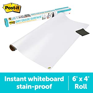 Post-it Dry Erase Surface (6 ft x 4 ft) - Great for Tables, Desks and Other Surfaces
