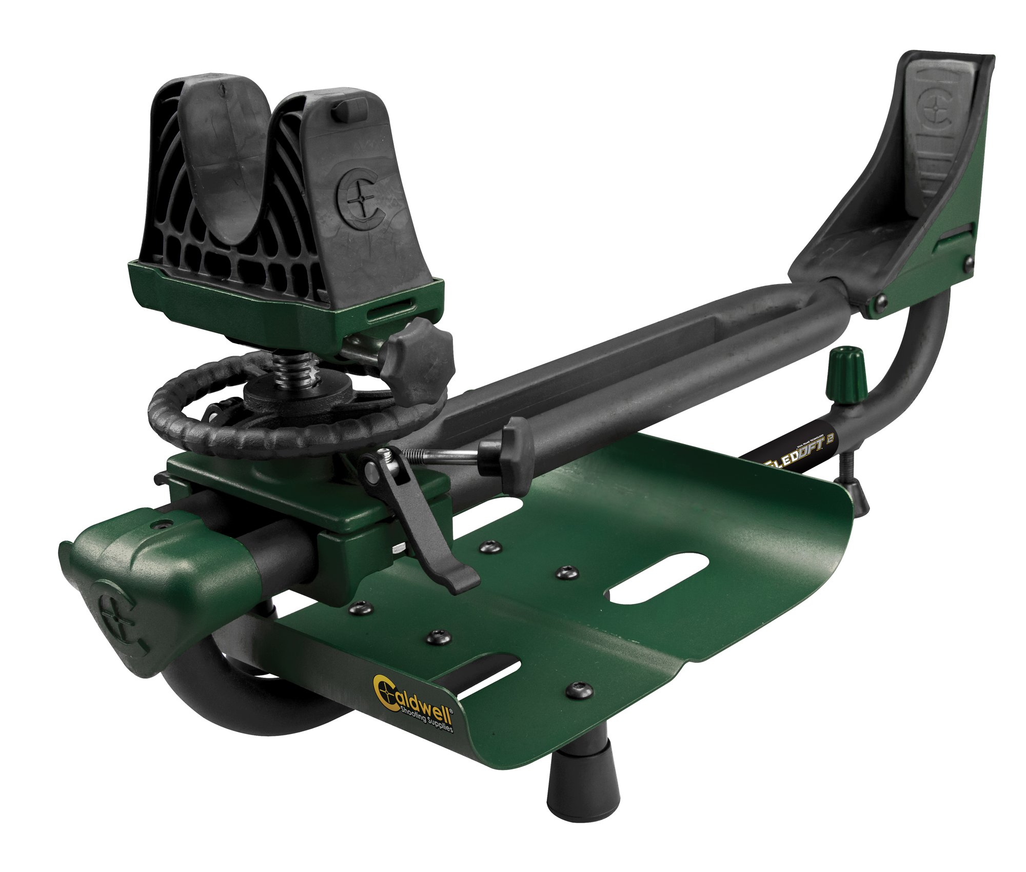 Caldwell Lead Sled DFT 2 Adjustable Ambidextrous Recoil Reducing Rifle Shooting Rest for Outdoor Range by Caldwell
