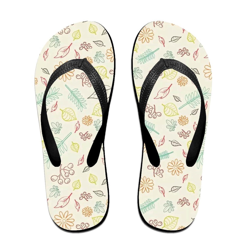 Flower Floral Plants Soft Unisex Flip Flops Sandal Summer Beach Slippers For Women Men