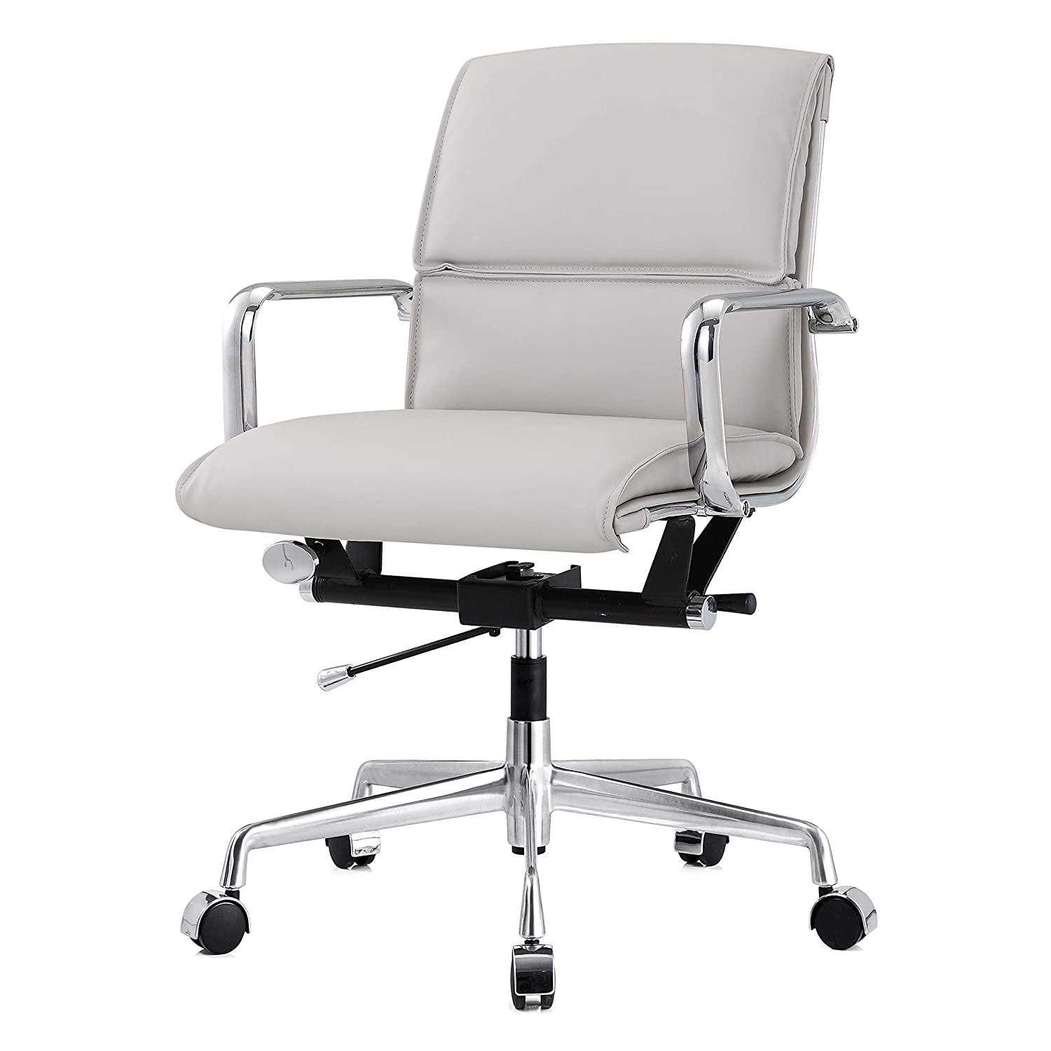 One Size MEELANO 330-GD-BLK Office Chair Gold//Black