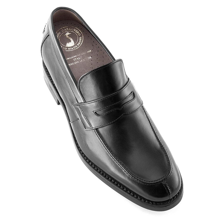 Masaltos Zapatos de Hombre con Alzas Que Aumentan Altura Hasta 7 cm. Fabricados EN Piel. Modelo Stanford 40 EU|Negro