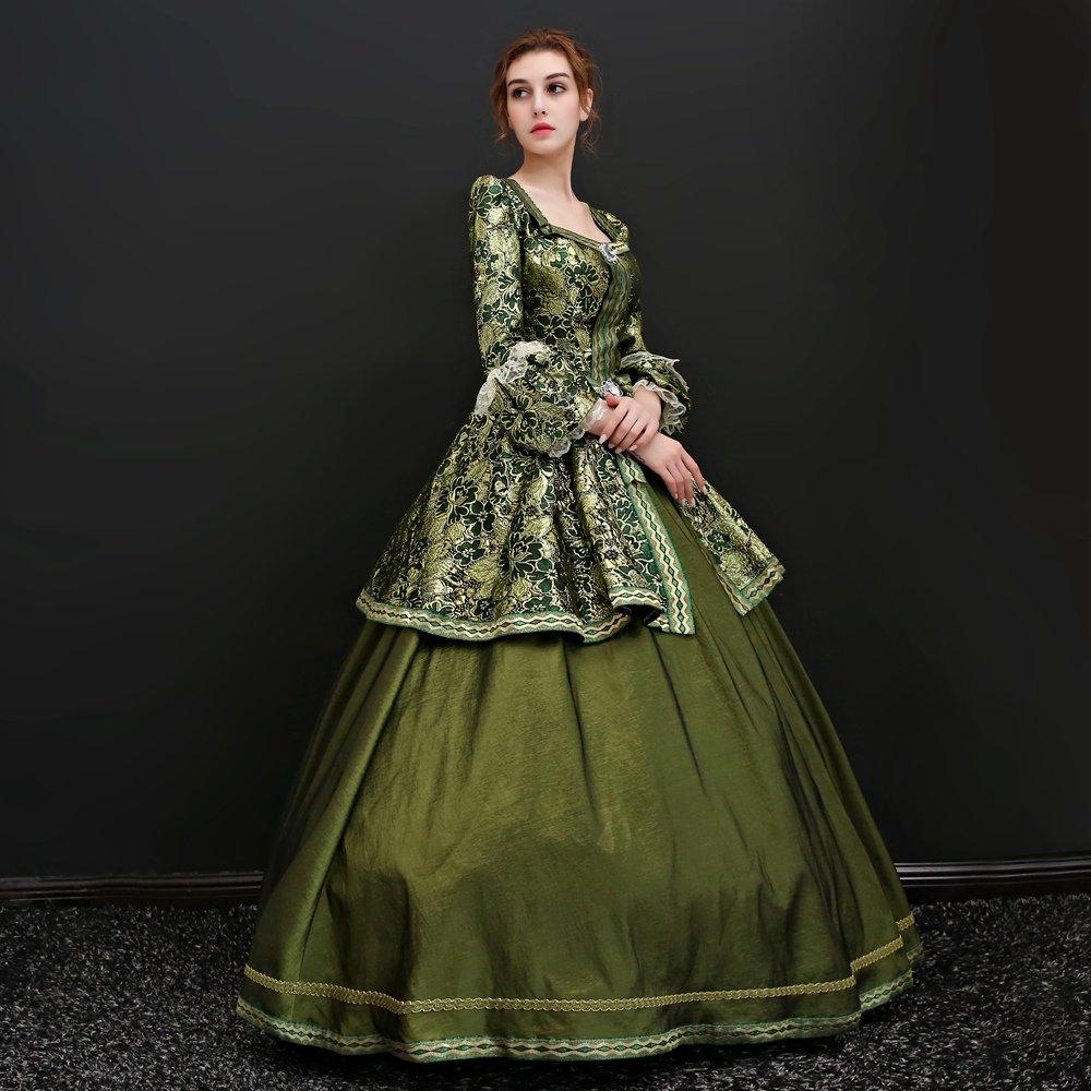 Zukzi Women's Floor Length Victorian Dress Costume Masquerade Ball Gowns, X7932, Customized by Zukzi (Image #5)