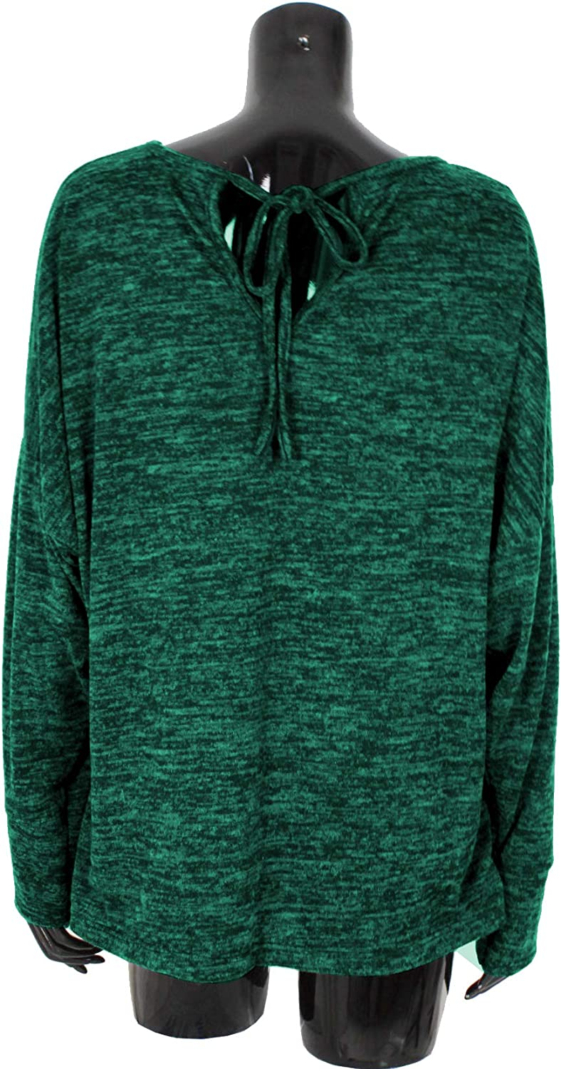 Emma /& Giovanni - Women Made in Italy Baggy Jumpers//Top Oversize Back Knot