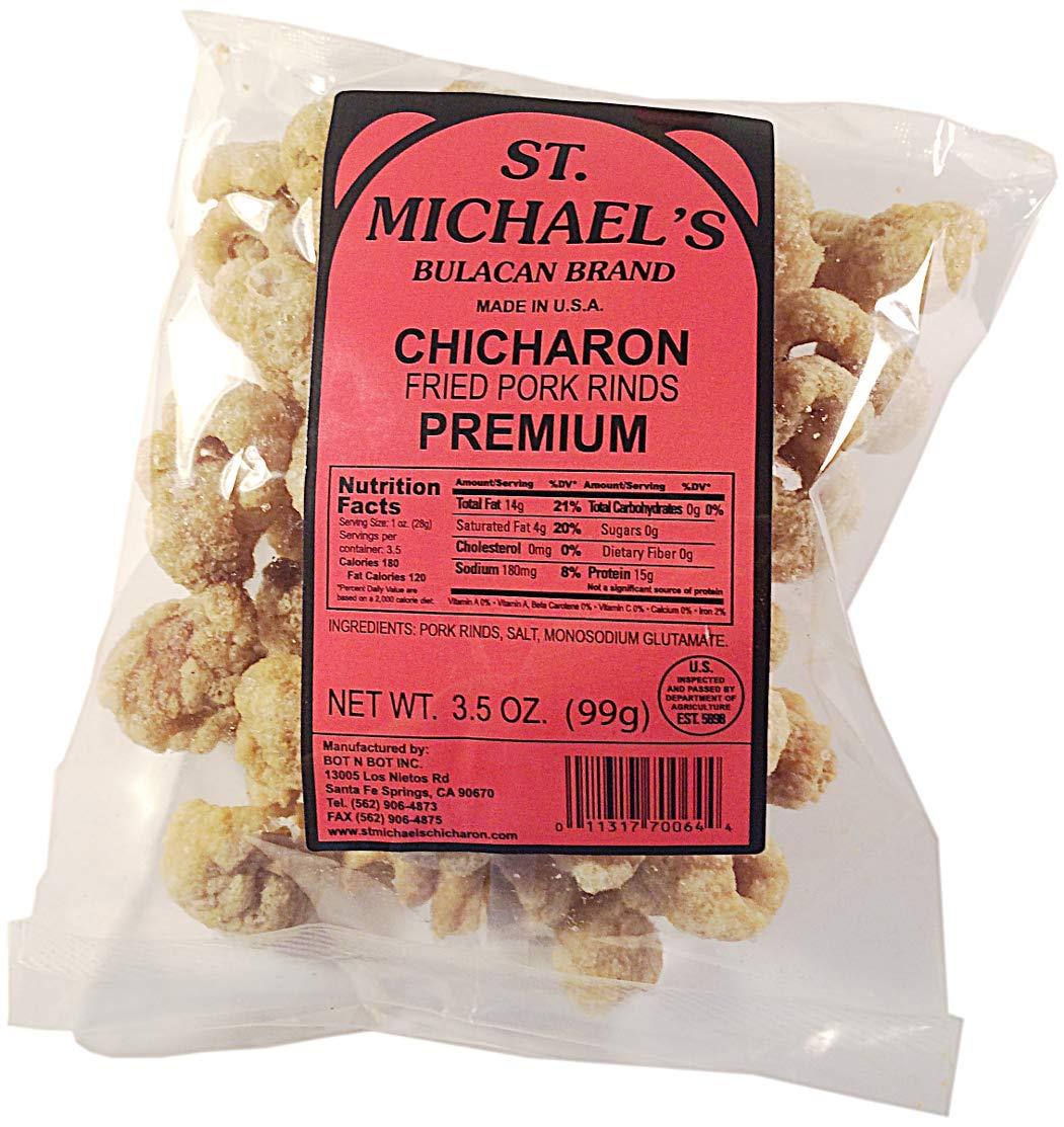St  Michael's Chicharon, Pork Rinds Variety 3-Pack, Regular Chicharon,  Premium Bulacan, and