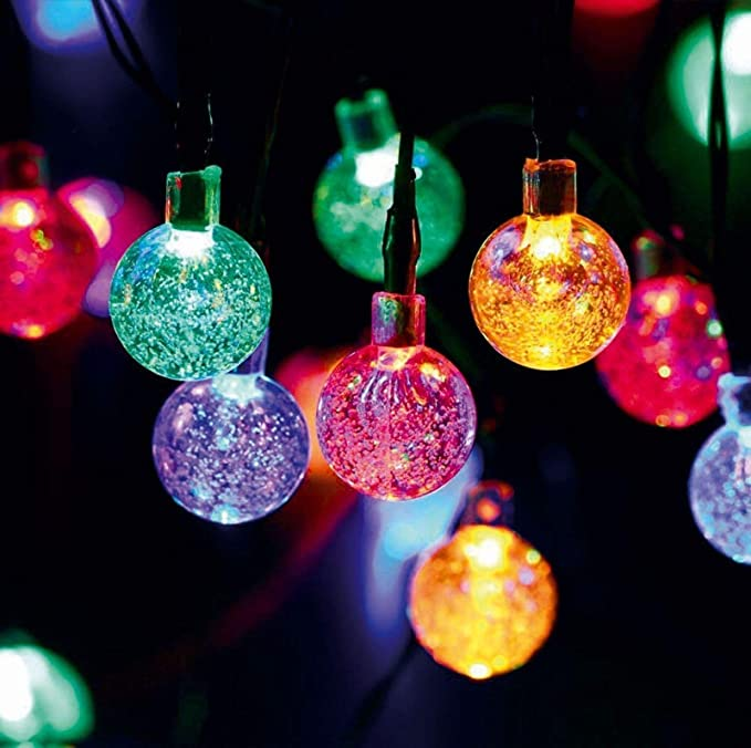 CHRONOS LED Globe Ball String Lights | 3AA Battery Operated - Pack of 1 (Multi)