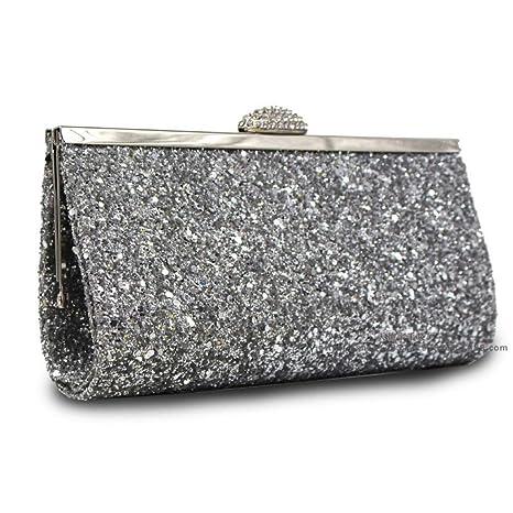 Amazon.com  Glitter Sequin Clutch Shoulder Bag e2356bb4f541
