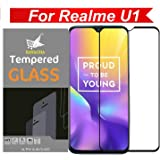 Kavacha Tempered Glass for Realme U1 (Black) Edge to Edge Full Screen Coverage with easy installation kit