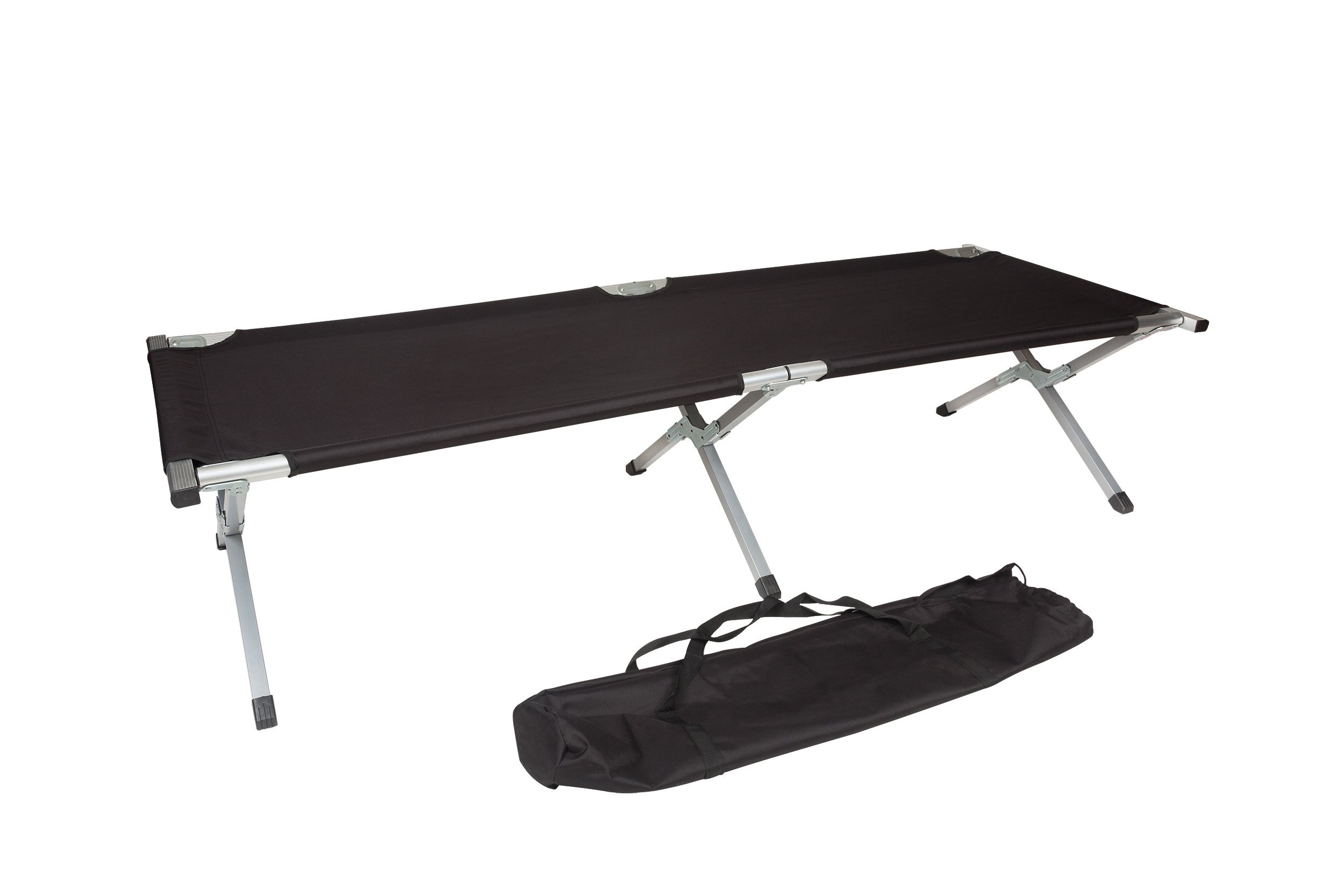 75'' Portable Folding Camping Bed & Cot - 260 lbs. Capacity By Trademark Innovations (Black)