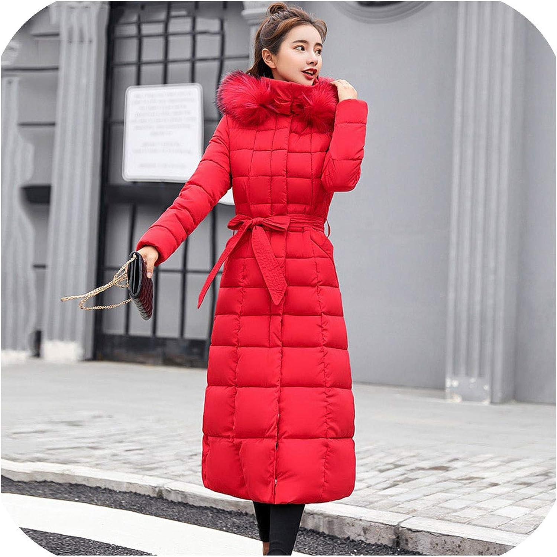 Fenyoung Slim Women Winter Jacket Cotton Padded Coat Long Coats Parka Womens Jackets 71ZlHsgydUL