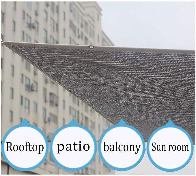 Reflexivo Aluminet Tela de Sombra 6.6x6.6ft 80% Blanco Al Aire ...
