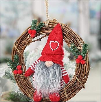 Cereza Juego de 4 Unidades Vilys House Corona Decorada navide/ña para adornar Las Velas en centros de Mesa o como Colgante de /árbol Navidad