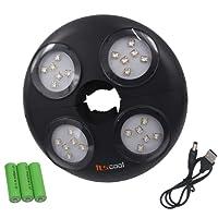 Itscool Éclairage de Parasol avec 24 LED Haute Luminosité 4500mAh Batterie Rechargeable de 280 Lumens pour Parasol Lighting