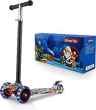 Amazon.com: WeSkate Scooters para niños, patinete de 3 ...