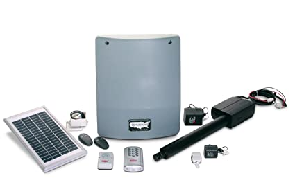 USAutomatic 020340 Medium 300 Solar Charged Automatic Gate Opener Single  Gate Deluxe Kit