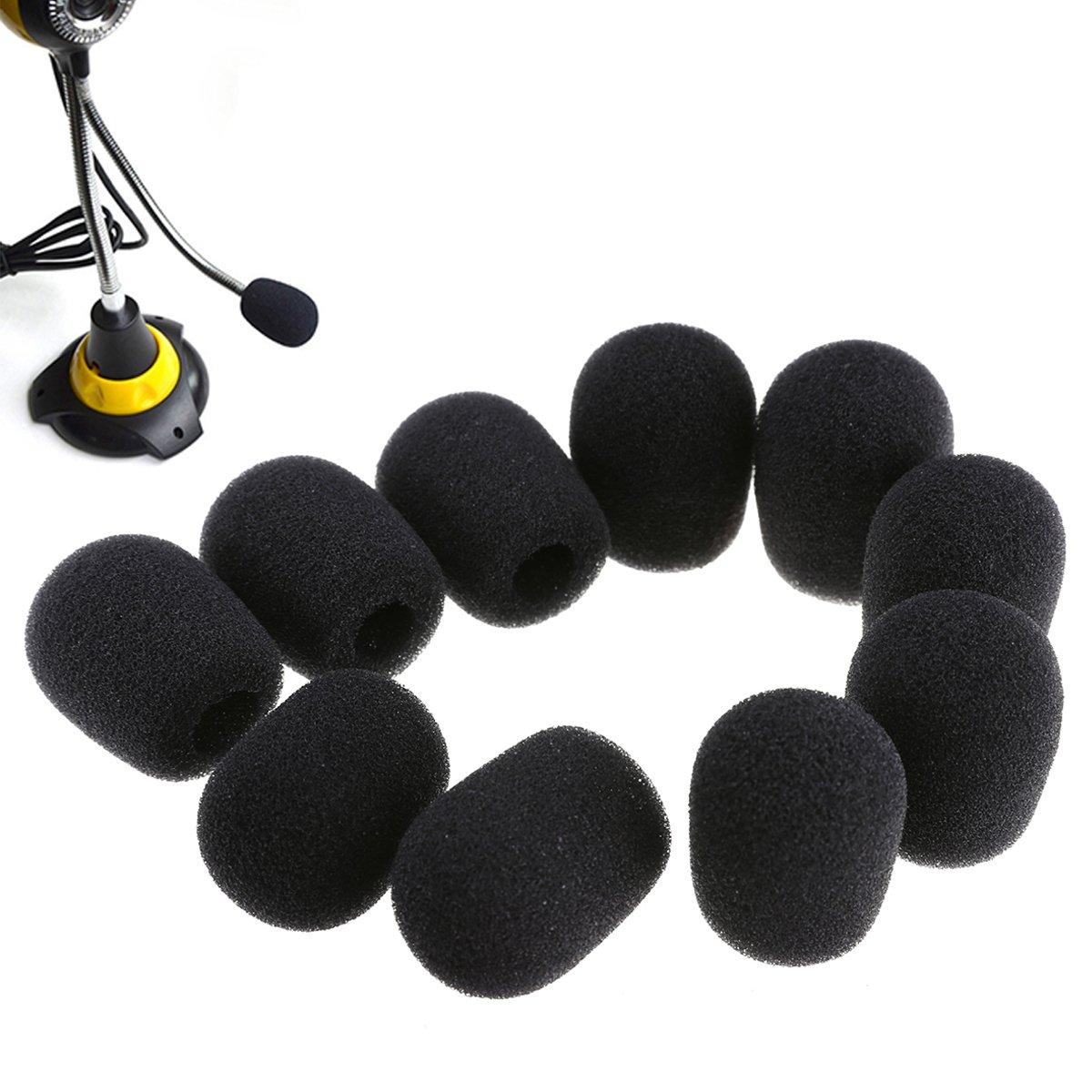 20 Stück Mini Mikrofon Windschutzscheibe Schaum Abdeckung , 30 x 8 mm EAGLESTIME