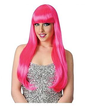 Candy Girl peluca rosa neón