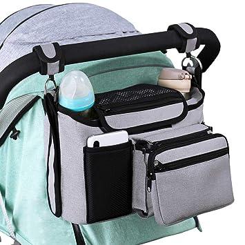 hot air balloon Kinderwagentasche Kinderwagen Zubeh/ör Kinderwagen Organizer Getr/änkehalter Kinderwagen Tasche