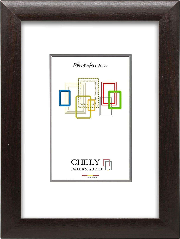 Chely Intermarket, Marco de Fotos Grandes 50x70 cm (Vengué) MOD-257, Hecho Madera sólida, Ancho de Bastidor 1,90 cm con Acabado Elegante (257-50x70-1,70)