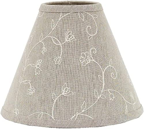 Home Collection by Raghu Candlewicking Taupe Lampshade, 16