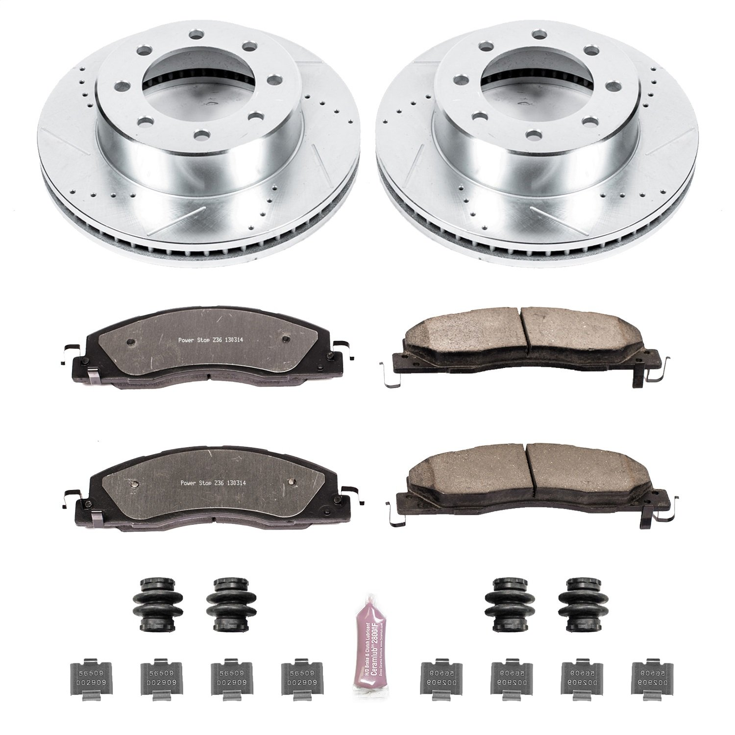 Power Stop K5411-36 Front Z36 Truck and Tow Brake Kit