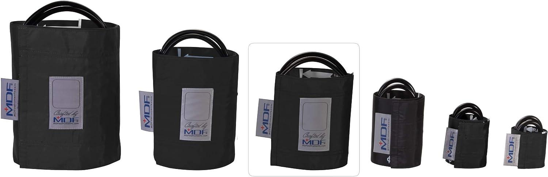 MDF® Adulto - Doble tubo Manguito sin látex para presión arterial - Negro (MDF2100450-11)
