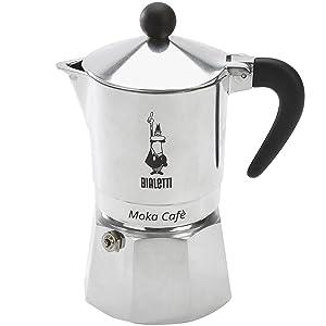 Bialetti, 06774, Moka Cafe 3 cup, Stove Top Espresso Maker, Black