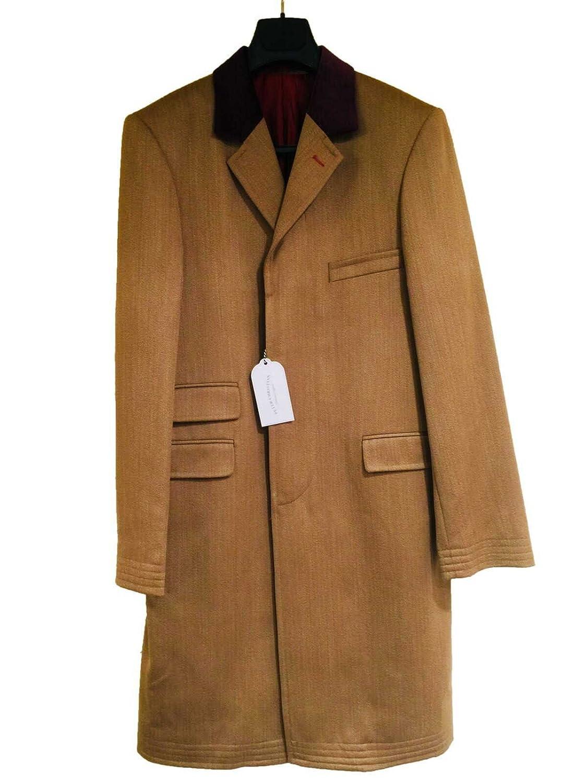 カバートコー ト メンズ 紳士 英国製 PeterChristian Covertcoat ピータークリスチャン Wool ウール Tan 狩猟 乗馬 サイズ選択 E199 B077GZCZQH UK40R
