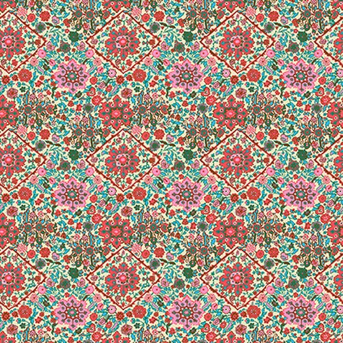 (Amy Butler CPAB003 Soul Mate Kaleidoscope Bone Cotton Fabric by Yard)