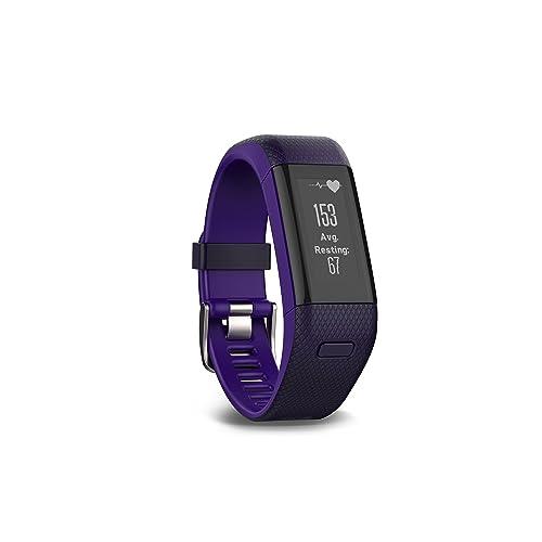Garmin vívosmart HR+ Regular Fit GPS Activity Tracker - Imperial Purple/Kona Purple