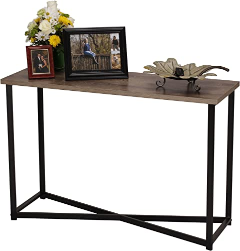 Household Essentials Ashwood Sofa Table Console Table for Entryway Gray-Brown