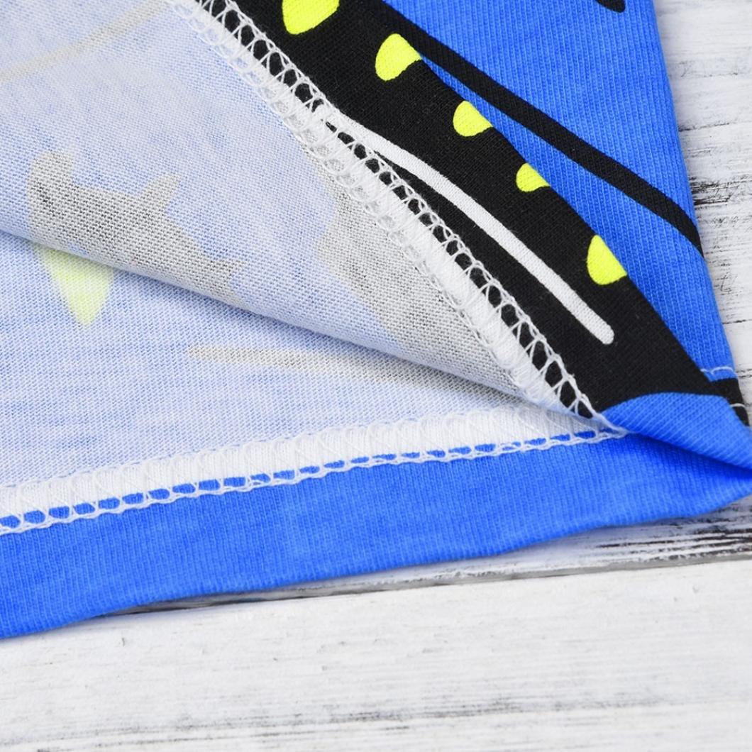 KaiCran Little Big Boy Cotton Short Sleeve Shark Print Cartoon Tops T-Shirt Blouse