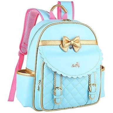 Amazon.com | Gazigo Children Princess Waterproof PU Backpack for ...