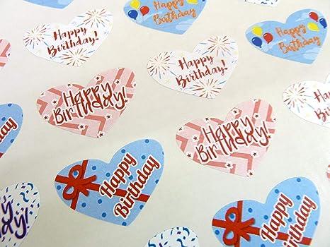 Amazon.com: Paquete de 50 Happy de colores Corazones de ...