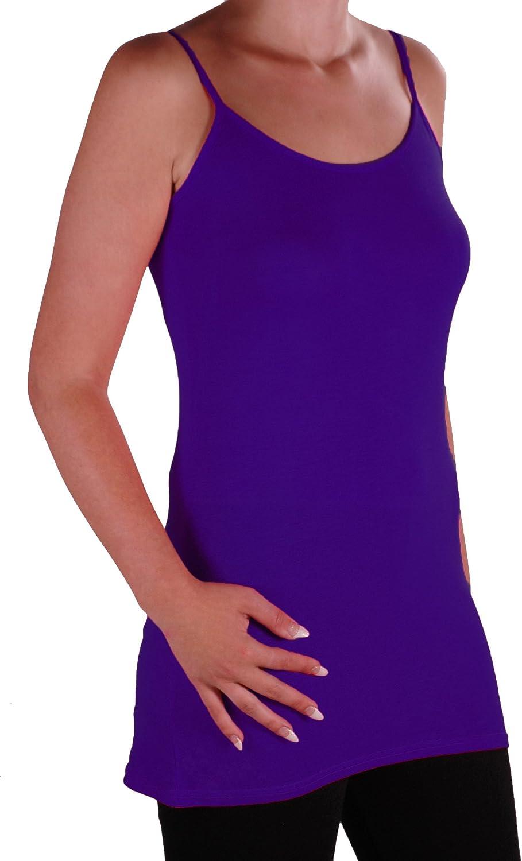 Eyecatch TM Angelique Womens Strappy Cami Top Ladies Plus Size Long Camisole Vest Sizes 14-28