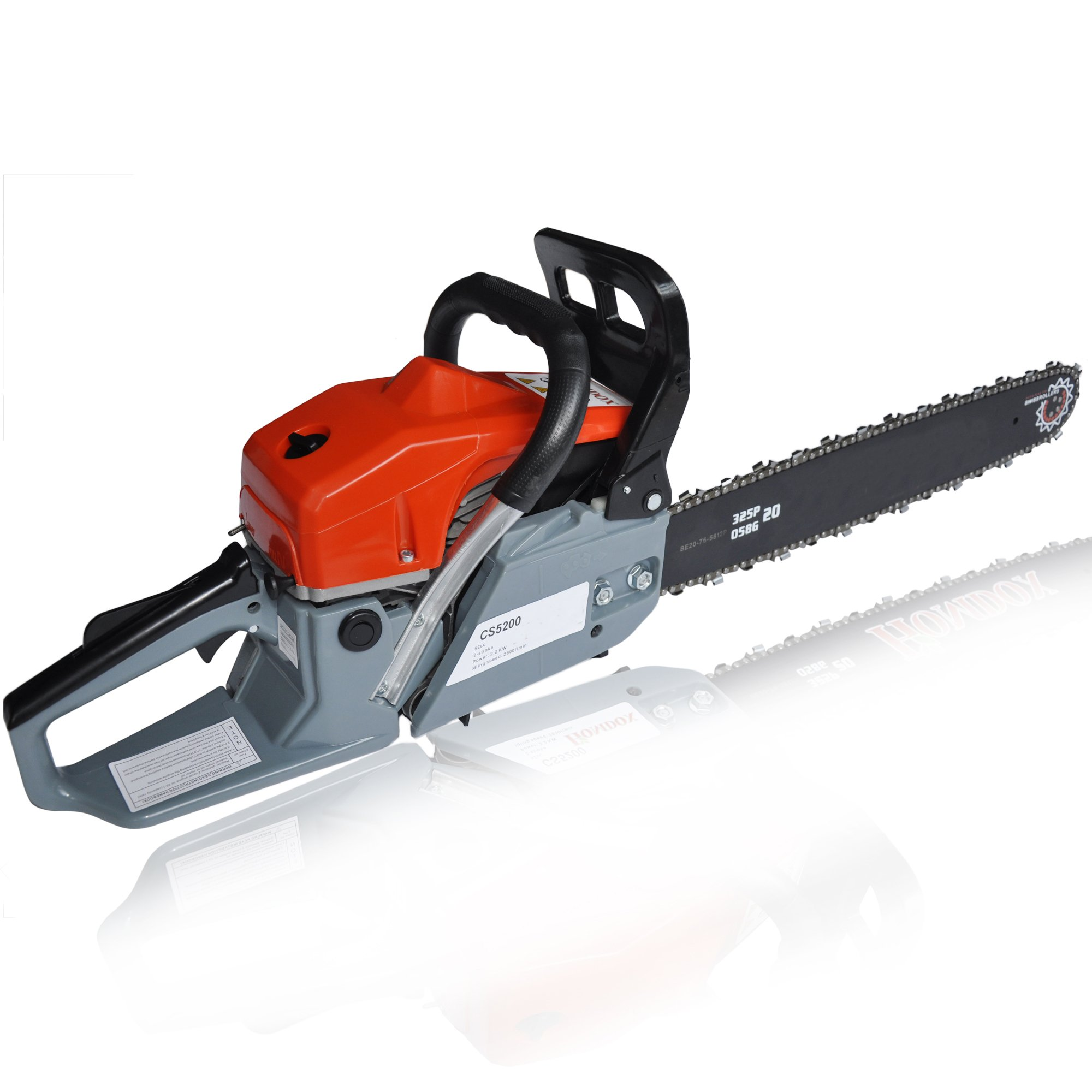 Binxin 20-Inch 62cc 4.2HP petrol Chain Saw with chainsaw Bar Cover, Tool Kit, Fuel Mixing Bottle, Manual (52cc)